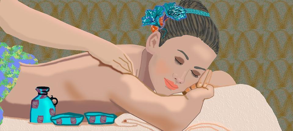 žena, masáž